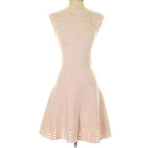 Ted Baker Knit A Line Light Pink Dress Fit N Flare